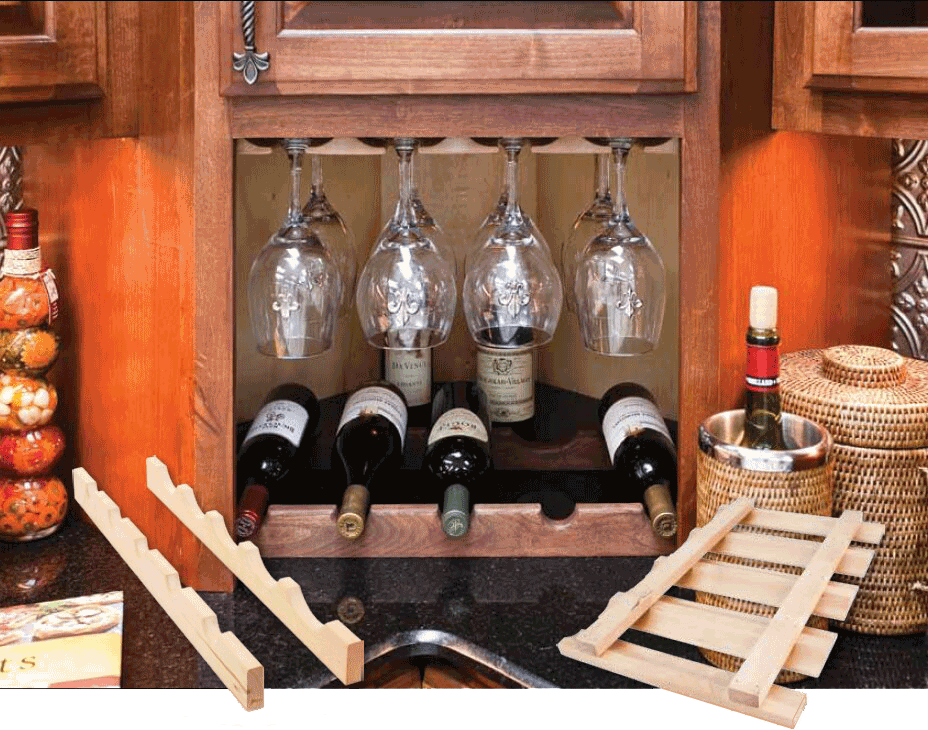 Wood Wine Bottle Rack
