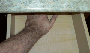 Partial extension drawer slide use