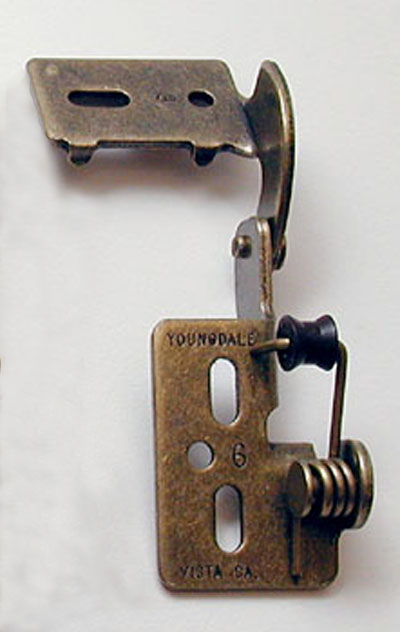 Youngdale #65 low profile hinge in Antique Brass