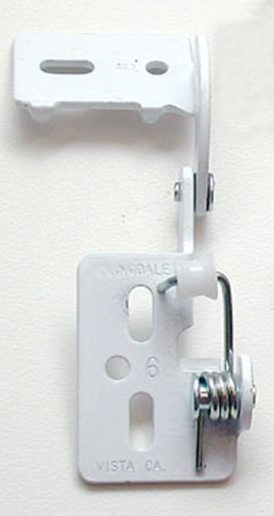 Youngdale #65 low profile hinge in White